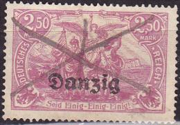 Danzig 1920, Overprint, 2.50M, Used - Gebraucht