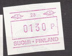 ATM: Finland 1993 Mi.14 Aut.number 0028 = Lahti Mint/** (G42-19) - ATM - Frama (labels)
