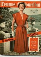 FEMMES D' AUJOURD'HUI 1952 + PATRON ROBE BRODERIE ANGLAISE RICHELIEU PAPILLON - Patrons