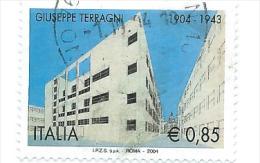 Italia 2004; Centenario Nascita Di Giuseppe Terragni, Architetto ; Usato - 6. 1946-.. Repubblica