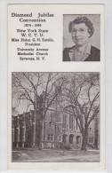 SYRACUSE (NY) - Diamond Jubilee Convention 1949 - Methodist Church - Syracuse