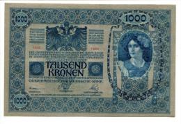 Autriche Hongrie Austria Hungary Österreich 1000 Kronen 1902 AUNC / UNC # 2 - Autriche