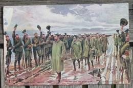 Carte Postale Ancienne Guerre De 1914 Le Roi D'Angleterre Au Front - Guerra 1914-18
