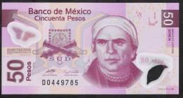 MEXICO  P123g     50  PESOS  23.4.2009 Serie N          AUNC. - Mexico