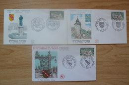 France - Yvert N° 1483 Sur 3 FDC - Oblitérations GF Nancy - Bar Le Duc - Expo Philatélique - 1960-1969
