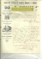 24 - Dordogne - LANOUAILLE- Facture BOSSAVY - Machines Agricoles - 1914 - France