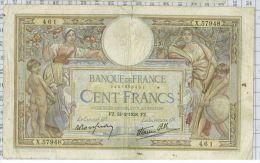 100 Francs Luc Olivier Merson Type 1906 Modifié, Ref Fayette 25-12, état TTB - 100 F 1908-1939 ''Luc Olivier Merson''