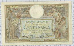 100 Francs Luc Olivier Merson Type 1906 Modifié, Ref Fayette 25-16, état TTB+ - 100 F 1908-1939 ''Luc Olivier Merson''