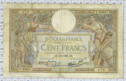 100 Francs Luc Olivier Merson Type 1906 Modifié, Ref Fayette 25-41, état TTB - 100 F 1908-1939 ''Luc Olivier Merson''