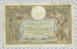 """100 Francs Luc Olivier Merson """"Grands Cartouches"""", Ref Fayette 24-16, état TTB - 100 F 1908-1939 ''Luc Olivier Merson''"""
