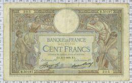 """100 Francs Luc Olivier Merson """"Grands Cartouches"""", Ref Fayette 24-15, état TTB - 100 F 1908-1939 ''Luc Olivier Merson''"""