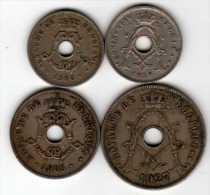 Belgique België : Lot De 4 Pièces Trouées En 2 Langues 1905-1930 - Non Classés