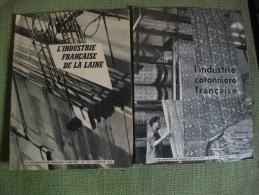Lot 2 Revues Documentation Industries Laine Coton En France 1956 Photos Mode - Bricolage / Technique