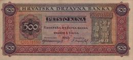 CROATIA - KROATIEN,  500 Kuna  1.9.1943 UNC  WWII - NDH - USTASHA * UNIFACE COPY - REPRODUCTION* Original Is Very Rare! - Kroatië