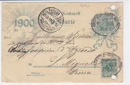 """Bahnpost """"Crefeld-Hamm.."""" ZUG 573 20.2.00 DESTINATION!! S.Miguel / Azoren - Deutschland"""