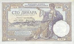 YUGOSLAVIA - JUGOSLAWIEN:  100 Dinara, 1929 UNC  *P-27b   *wmk. King Alexander I - Joegoslavië