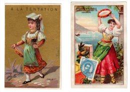 Lot De 2 Chromos Avec Thèmes De L ´ Italie - Trade Cards