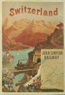 SWITZERLAND JURA SIMPLON RAILWAY KUNSTLER UNBEKANNT TRAIN TRANSPOR 1890  EDIT BIREGG VERLAG  N°1101 RCRITE CIRCULEE 1975 - Switzerland