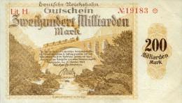 Notgeld Reichsbahn 200  Milliarden Mark  Karlsruhe - [ 3] 1918-1933 : Weimar Republic