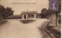 CPA  - HERMONVILLE - Avenue De La Gare  - Circulée En 1932 - - Unclassified