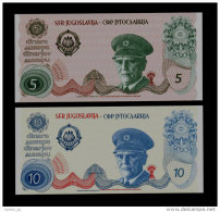 YUGOSLAVIA - JUGOSLAWIEN: Pair  5  & 10 Dinar ND1980 UNC *JOSIP BROZ TITO*  PROOF NOTE - Jugoslawien