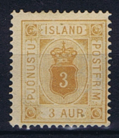 Iceland Dienstmarken  1876, 3 A MH/* - Dienstzegels