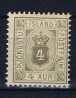 Iceland Dienstmarken  1900,  9 MH/* - Dienstzegels