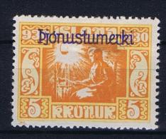Iceland Dienstmarken  1930,  57  MH/* Pjonustumerki - Dienstzegels