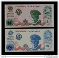 YUGOSLAVIA - JUGOSLAWIEN: Pair  5  & 10 Dinar ND1980 UNC *JOSIP BROZ TITO*  PROOF NOTE - Yugoslavia
