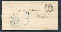 Brief DR Dienst Von Heilbronn 1868 Gelaufen - Neuenstein Bahn Railway - Deutschland