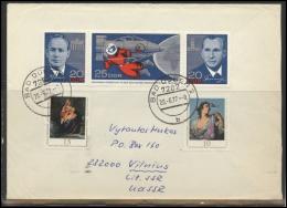 GERMANY Deutschland D DDR Brief 0202 BAD DUBEN Cancellation Postal History Space Soviet Cosmonauts Leonov Beliaev - DDR