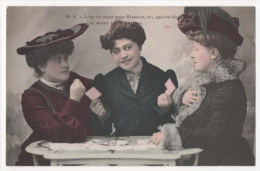 CPA Fantaisie - Femme - Jeu De Cartes  (H. Manuel) - N° 6 - Femmes