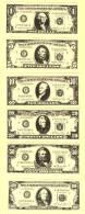 Série De 6 Billets Factices US DOLLARS (neuf-UNC) - Etats-Unis