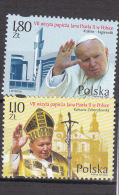 Poland: 2002 7th Visit Of Pope John Paul II SC.3647-3648  Two Stamps Mint/**  (G42-20) - Papas