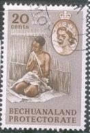 BECHUANALAND Sg 176_WOMAN MUSICIAN - Bechuanaland (...-1966)