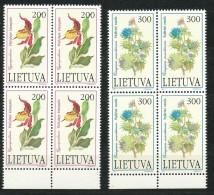 LITAUEN -  Mi.Nr.  499  -  500   -   Postfrisch     4er Block - Litauen