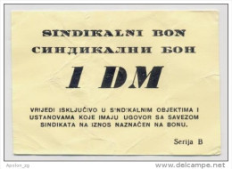 BOSNIA - BOSNIEN UND HERZEGOWINA,  1 German Mark(1993) VF, MEDICAL CENTRE In BANJA LUKA War Emergency Note - Bosnia And Herzegovina