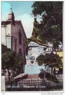 Colle Sannita, Chiesa E Monumento Ai Caduti, Cartolina Acquerellata Anni 60 - Autres Villes