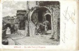 CPA PIONNIERE SPELLO (Italie-Ombrie) - Via Delle Torri Di Properzio - Other Cities