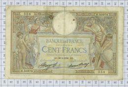 "100 Francs Luc Olivier Merson ""Grands Cartouches"", Ref Fayette 24-15, état TB-TTB - 100 F 1908-1939 ''Luc Olivier Merson''"