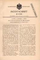 Original Patentschrift - L. Czischek In Wien , 1898 , Antrieb Für Motorwagen , Automobile !!! - KFZ