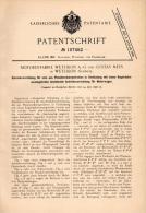 Original Patentschrift - G. Mees In Wetzikon , 1898 , Einrücker Für Motorwagen , Automobile , Motorenfabrik !!! - Voitures