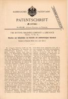 Original Patentschrift - Tire Setting Machine Comp. In Lime Rock , 1898 , Machine For Mounting Of Tires , Connecticut !! - Tools