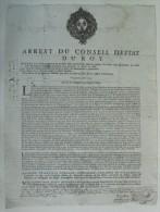 Arrest Du Conseil D'Estat Du Roy Du 1er Avril 1704 - Gravures