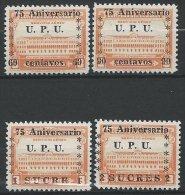 EQUATEUR - Poste Aérienne Neuve - Série Complète UPU De 1949 - Equateur