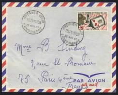 SAINT PIERRE & MIQUELON - TELEVISION / 1967 - # 377 SUR LETTRE AVION FDC POUR PARIS (ref 4754) - St.Pierre Et Miquelon