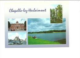 Chapelle Lez Herlaimont Monument Aux Morts  Lac De Clairefontaine  Pêcheur - Chapelle-lez-Herlaimont