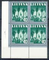 LITAUEN -  Mi.Nr.  474 -    Postfrisch   4er  Block - Litauen