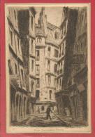 Rue Zacharie Paris - EAU FORTE DE BAKY Gyözö ( 1902-1972) / Rue Xavier Privas Actuellement / 9,3x14 Cm - Arrondissement: 05