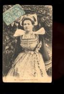 PONT AVEN Finistère Bretagne Costume : Femme Nouvelle Mariée En Robe Dentelle Dentelles Coiffe - Pont Aven